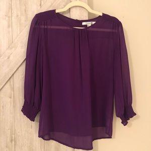 Vibrant purple blouse